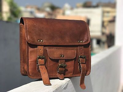 Motorcycle Side 2 Side Pouch Brown Leather Pouch Saddlebags Saddle Bag Panniers