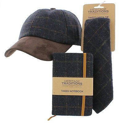 Baseball Cap & Matching Neck Tie/Wallet/Notebook Gift Set Birthday/Christmas