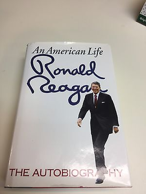 Ronald Reagan  - Signed- An American Life  The Autobiography - Autograph Plate