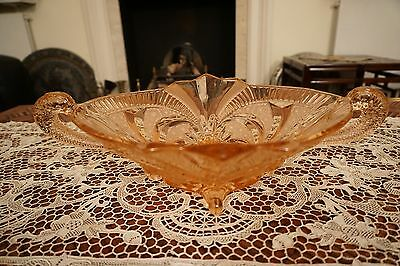 Vintage Art Deco Glass Fruit Bowl