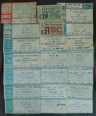 Original 1982 Heart concert ticket stub and Ticket COLLECTION Framed 12 years