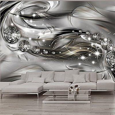 PREMIUM 3D DESIGN VLIES FOTOTAPETE ++ ABSTRAKT DIAMANTEN (2) ++ 350 x 245 cm