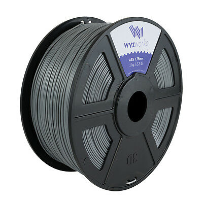 WYZwork 3D Printer Premium ABS Filament 1.75mm 1kg/2.2lb - Silver