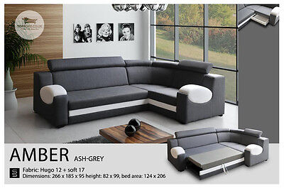 - Amber -BEST SALE Universal Corner Sofa Bed, Sleep Function more than 4 seater