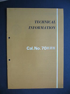 CitizenTechnical Information Ladies Cal No 70 Brochure