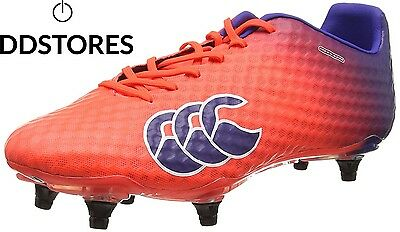 Canterbury Speed Elite 6 Stud, Chaussures de Rugby Homme, Rouge X20...