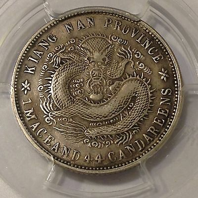 China, CD1902(1901),Kiangnan, Kuang-Hsu Yuan Bao,20 Cents Silver Coin, PCGS XF40