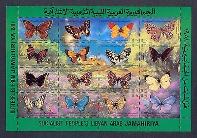 Libya 1981 - Minisheets - Butterflies from Libya - MNH** Excellent Quality