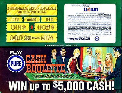 Vintage 1967 Pure Oil Cash Roulette Game-Who Keeps This Stuff For 50 Years?