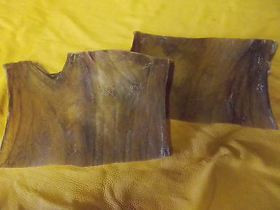 2 Red Deer raw hide neck off cuts. Shaman rattle laces Native American Crafts
