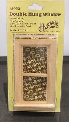 Dolls House 1:12th Scale Houseworks Double Hung Window
