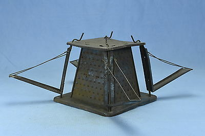 Antique METAL JEWEL TOASTER 4 SLICE WOOD COOK STOVE VISIBLE TOASTER CAMPING RARE