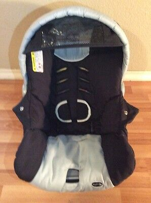 CHICCO Keyfit 30 Infant Car Seat Cushion Cover Canopy Set Black Silver White