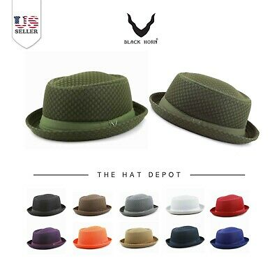 c63cc924ebb61 Light Weight Classic Soft Cool Summer Mesh Porkpie hat 7060
