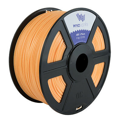 WYZwork 3D Printer Premium ABS Filament 1.75mm 1kg/2.2lb - Skin