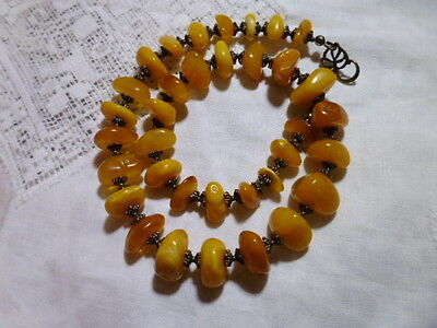 Collana in ambra naturale /genuine amber necklace 36,8 gr.