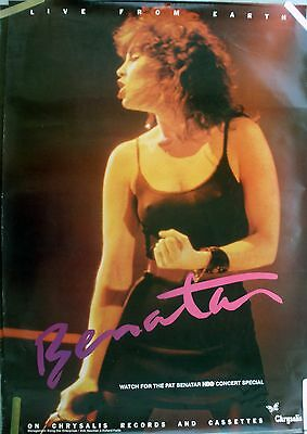 Pat Benatar Live From Earth 1983 Vintage Orig Music Record Store Promo Poster