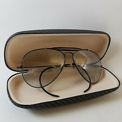 """Vintage 1970""""s B&L Ray Ban Aviator Outdoorsman 58mm with Grey Photochromic Lens"""