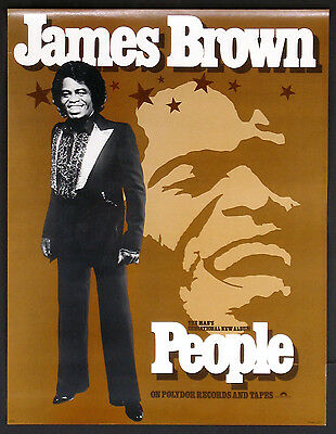 James Brown People Album Vintage 1980 Promo Poster