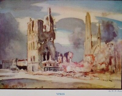 1917 Wwi Ww1 Canadian Army Print Ypres By W.w.russell