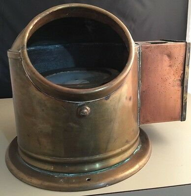 Antique Sestrel Compass Nautical Copper Brass Oil Burner Lantern Navigational