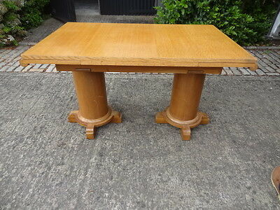 oak extending Art Deco dining table and 6 chairs