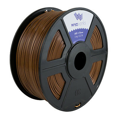 WYZwork 3D Printer Premium ABS Filament 1.75mm 1kg/2.2lb - Brown