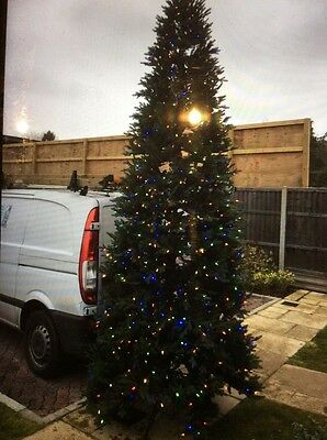 Ex disp Christmas Tree 12ft Prelit White and/or coloured Lights Traditioanl Xmas