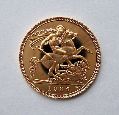 Gold UK Proof Half Sovereign 1986 1987 or 1988 You Choose the Year
