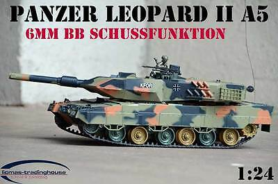 Rc Panzer Leopard Ii A5 Modell 2017 1:24  Heng Long 3809 Bb Schussfunktion