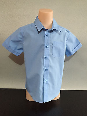BNWT Girls Boys Sz 14 Target School Sky Blue Short Sleeve School Uniform Shirt