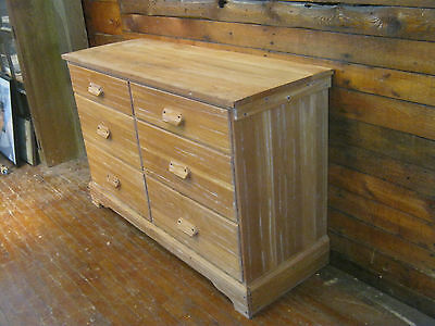 Vintage 1950s A. Brandt Ranch Oak Dresser Six Drawer Chest