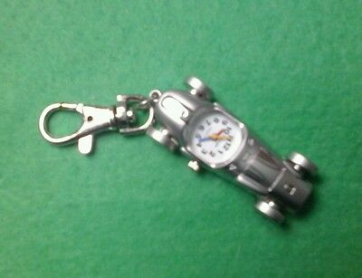 Racing Car WATCH keyring gift