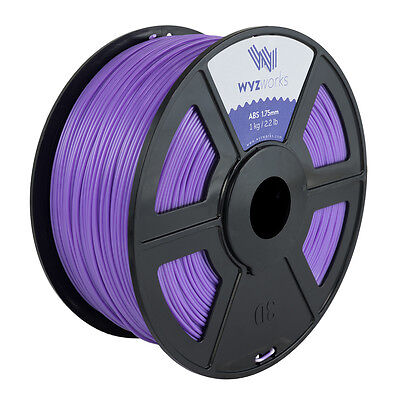 WYZwork 3D Printer Premium ABS Filament 1.75mm 1kg/2.2lb - Purple