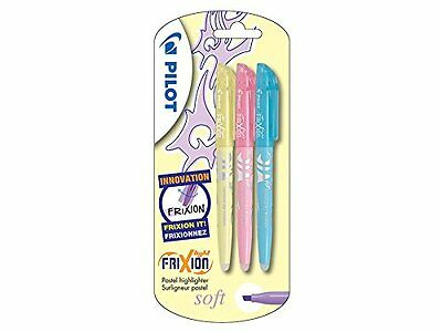 Pilot Frixion Light Soft Erasable Highlighter - Pastel Yellow/Pink/Blue, 3 Pack