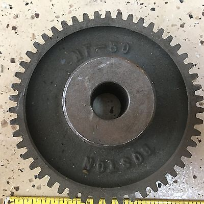 "Boston Gear NF50 Cast Iron Gear, 50 Teeth, 5"" Diam., 14.5 PA, Steampunk & Indust"