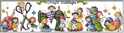 Craft Village. 14CT counted cross stitch kit. Craft brand new.