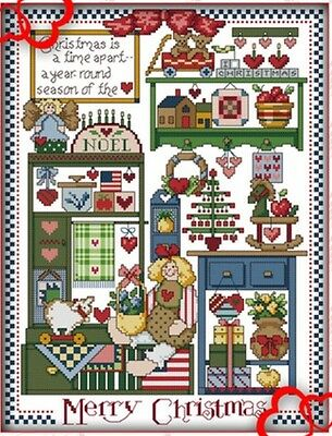 Christmas Gift Shop. 14CT counted cross stitch kit. Craft brand new.