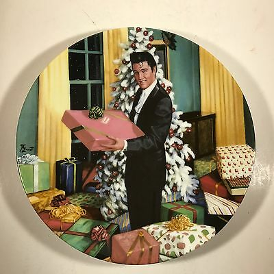 "Collectible Elvis Presley DELPHI Plate - #1430B ""Christmas at Graceland"""