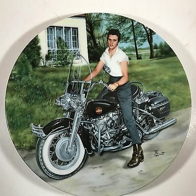 "Collectible Elvis Presley DELPHI Plate - #10637B ""Elvis on His Harley"""