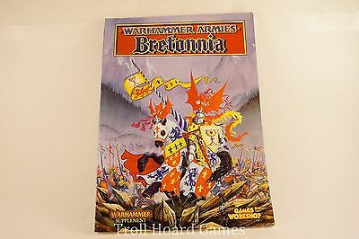OOP WFB 5th Edition Warhammer Armies: BRETONNIA ARMY BOOK / Codex EXCELLENT