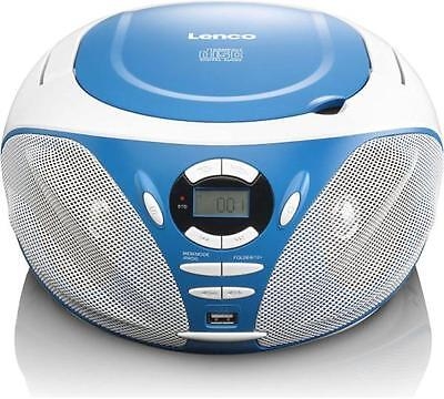 tragbares radio mit cd mp3 player ukw tuner blau lenco. Black Bedroom Furniture Sets. Home Design Ideas