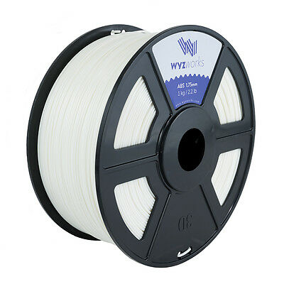 WYZwork 3D Printer Premium ABS Filament 1.75mm 1kg/2.2lb - White