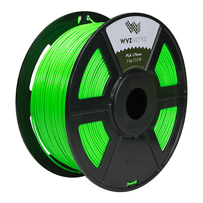 WYZwork 3D Printer Premium PLA Filament 1.75mm 1kg/2.2lb - Fluorescent Green