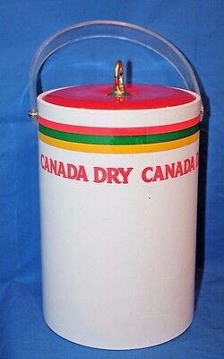 Vintage CANADA DRY GINGER ALE Large Ice Bucket With Lid