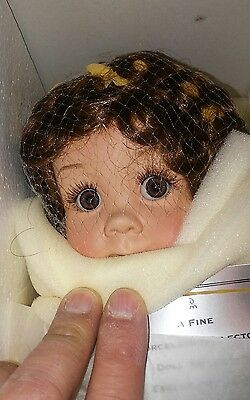 Ultra Rare NRFB Danbury Mint Sunflower Porcelain Doll BY Cindy Marshner Rolfe