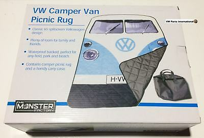 Genuine New VW Splitty Camper Van Camping Picnic Blanket Authentic OEM Accessory