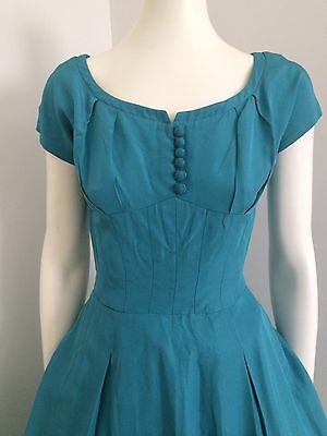 Orginal Vintage 50s 60s Party Cocktail Dress , Pinup Rockabilly