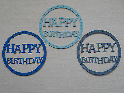 Happy Birthday Paper Die Cuts x 10 Scrapbooking Card Topper Embellishment