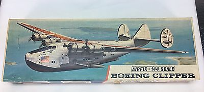 Vintage Airfix 144 Scale Boeing Clipper Series 4 Model Airplane Lot